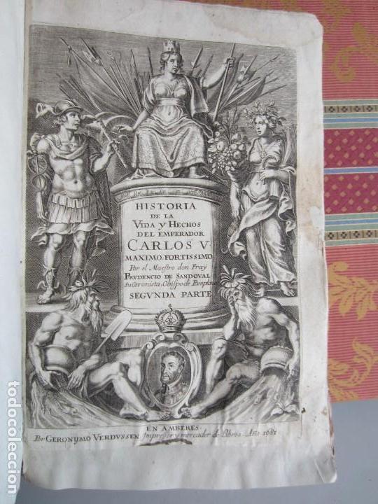 Libros antiguos: 1681-VIDA DEL EMPERADOR CARLOS V. SANDOVAL.GERONIMO VERDUSSEN.COMPLETA EN DOS TOMOS CON 48 GRABADOS - Foto 31 - 130004959
