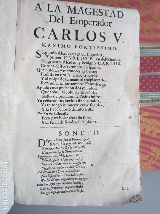 Libros antiguos: 1681-VIDA DEL EMPERADOR CARLOS V. SANDOVAL.GERONIMO VERDUSSEN.COMPLETA EN DOS TOMOS CON 48 GRABADOS - Foto 32 - 130004959