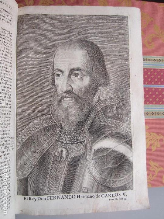 Libros antiguos: 1681-VIDA DEL EMPERADOR CARLOS V. SANDOVAL.GERONIMO VERDUSSEN.COMPLETA EN DOS TOMOS CON 48 GRABADOS - Foto 36 - 130004959