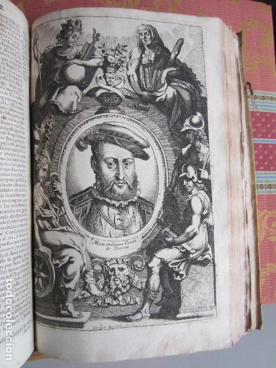 Libros antiguos: 1681-VIDA DEL EMPERADOR CARLOS V. SANDOVAL.GERONIMO VERDUSSEN.COMPLETA EN DOS TOMOS CON 48 GRABADOS - Foto 43 - 130004959