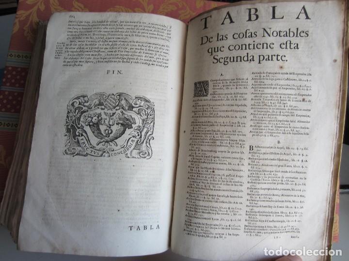Libros antiguos: 1681-VIDA DEL EMPERADOR CARLOS V. SANDOVAL.GERONIMO VERDUSSEN.COMPLETA EN DOS TOMOS CON 48 GRABADOS - Foto 49 - 130004959