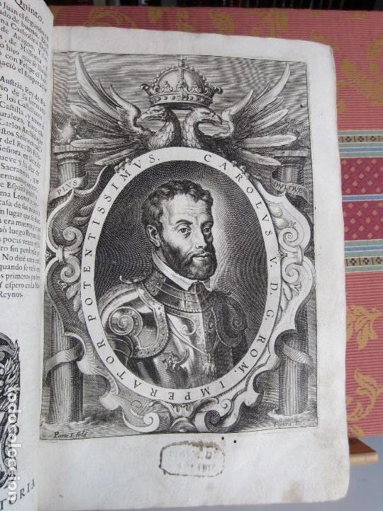 1681-VIDA DEL EMPERADOR CARLOS V. SANDOVAL.GERONIMO VERDUSSEN.COMPLETA EN DOS TOMOS CON 48 GRABADOS (Libros antiguos (hasta 1936), raros y curiosos - Historia Moderna)