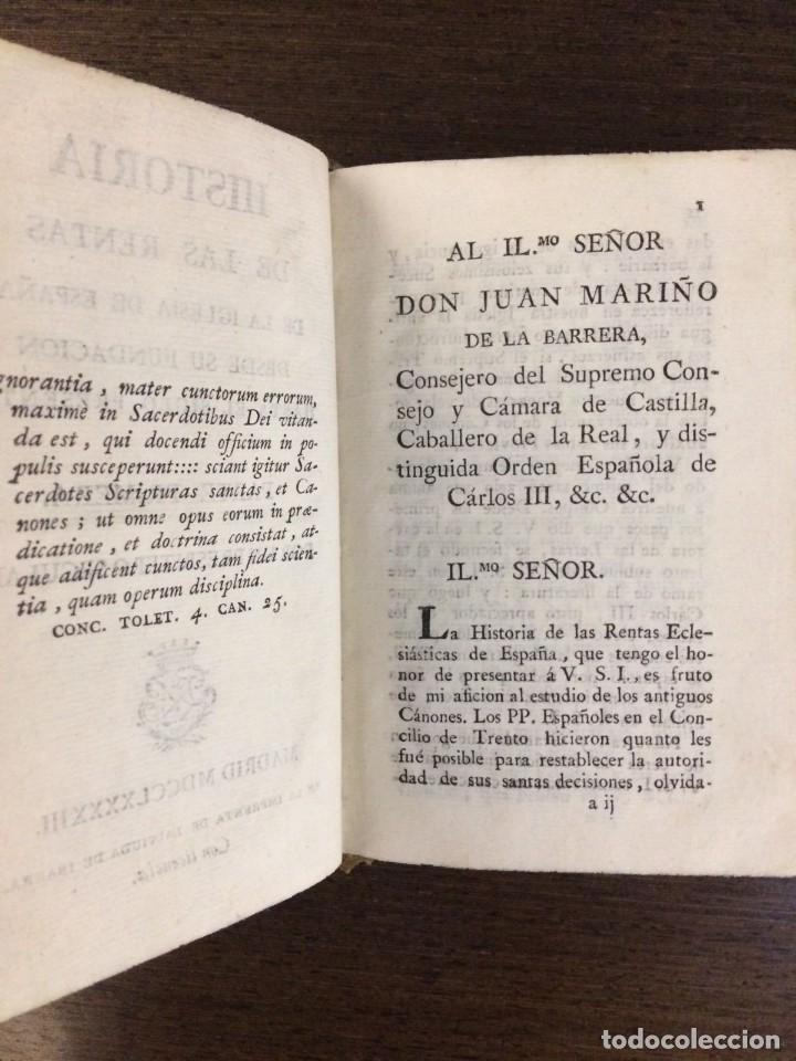 Libros antiguos: Historia de las rentas de la Iglesia de España desde su fundación hasta el siglo presente 1793 - Foto 4 - 132392674