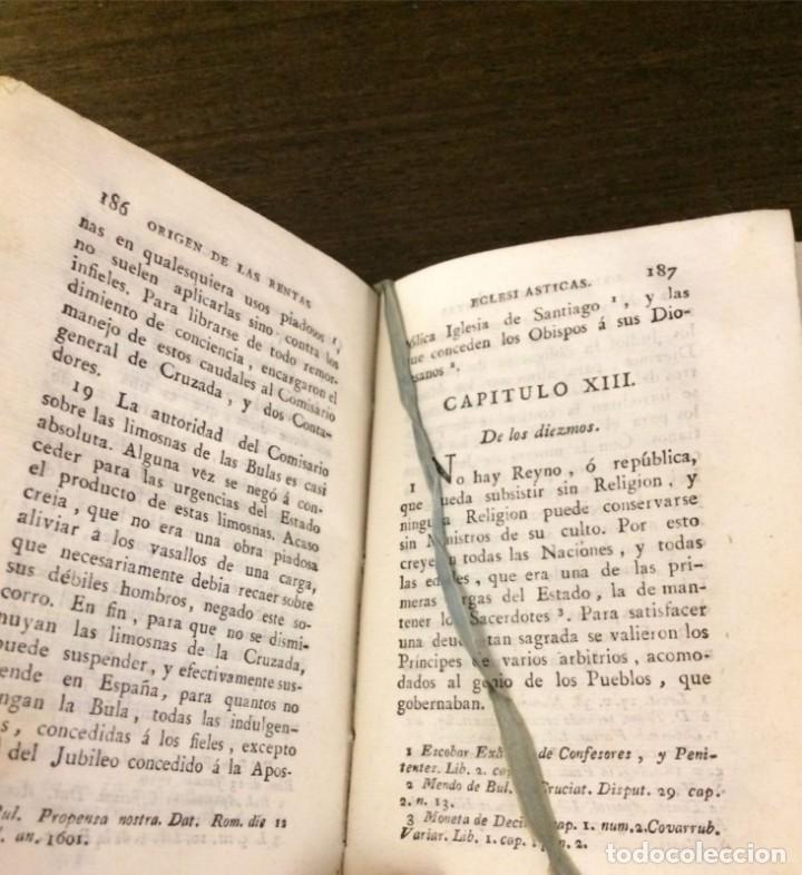 Libros antiguos: Historia de las rentas de la Iglesia de España desde su fundación hasta el siglo presente 1793 - Foto 5 - 132392674