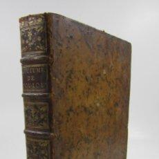 Libros antiguos: COUTUMES DE LA VILLE DE TOLOUSE, 1770, JEAN ANTOINE SOULATGES, LATIN ET FRANÇAIS, TOULOUSE. 21X26CM. Lote 132465170