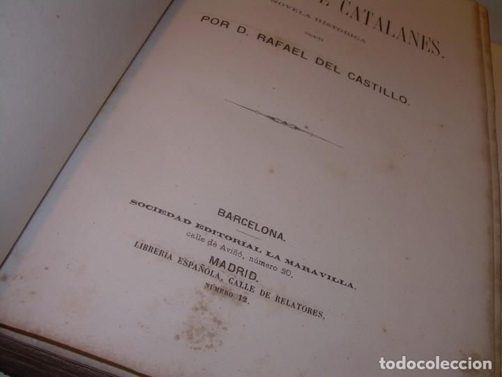 Libros antiguos: LIBRO TAPAS DE PIEL....ROGER DE FLOR O VENGANZA DE CATALANES...AÑO 1864..CON BONITOS GRABADOS. - Foto 2 - 133479010