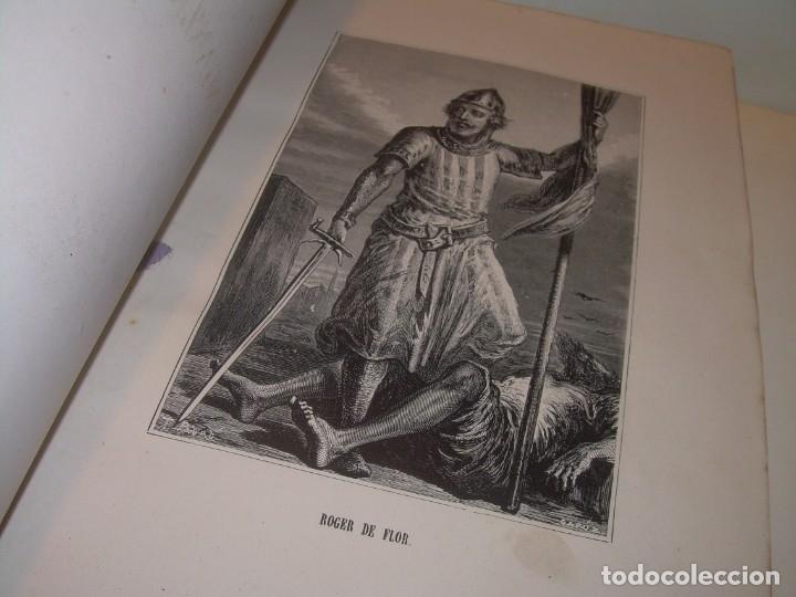 Libros antiguos: LIBRO TAPAS DE PIEL....ROGER DE FLOR O VENGANZA DE CATALANES...AÑO 1864..CON BONITOS GRABADOS. - Foto 3 - 133479010