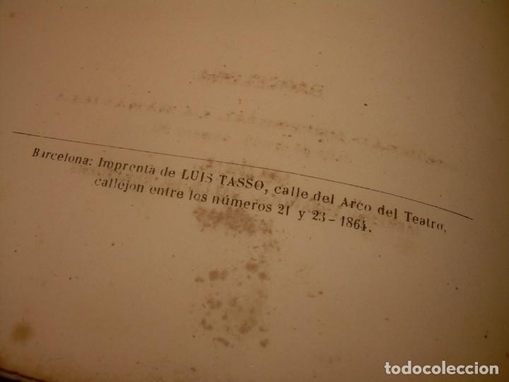 Libros antiguos: LIBRO TAPAS DE PIEL....ROGER DE FLOR O VENGANZA DE CATALANES...AÑO 1864..CON BONITOS GRABADOS. - Foto 5 - 133479010