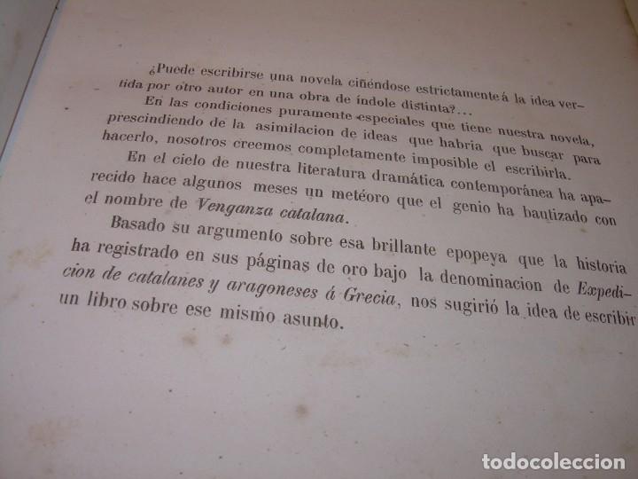 Libros antiguos: LIBRO TAPAS DE PIEL....ROGER DE FLOR O VENGANZA DE CATALANES...AÑO 1864..CON BONITOS GRABADOS. - Foto 6 - 133479010
