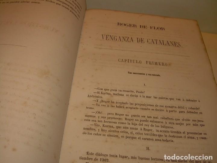 Libros antiguos: LIBRO TAPAS DE PIEL....ROGER DE FLOR O VENGANZA DE CATALANES...AÑO 1864..CON BONITOS GRABADOS. - Foto 7 - 133479010