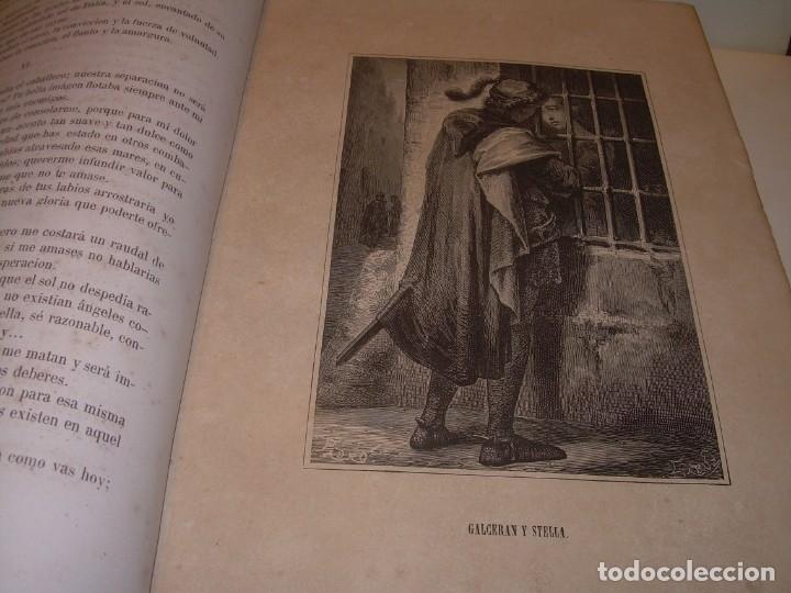 Libros antiguos: LIBRO TAPAS DE PIEL....ROGER DE FLOR O VENGANZA DE CATALANES...AÑO 1864..CON BONITOS GRABADOS. - Foto 9 - 133479010