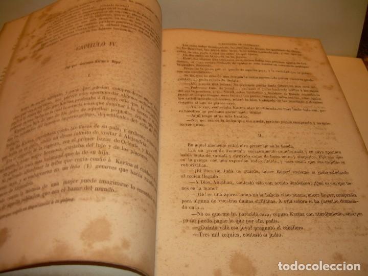 Libros antiguos: LIBRO TAPAS DE PIEL....ROGER DE FLOR O VENGANZA DE CATALANES...AÑO 1864..CON BONITOS GRABADOS. - Foto 10 - 133479010