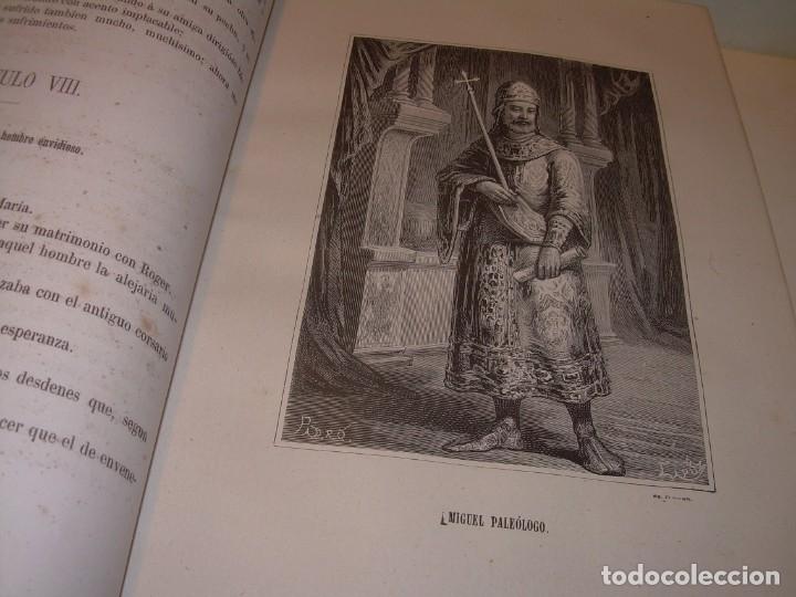 Libros antiguos: LIBRO TAPAS DE PIEL....ROGER DE FLOR O VENGANZA DE CATALANES...AÑO 1864..CON BONITOS GRABADOS. - Foto 12 - 133479010