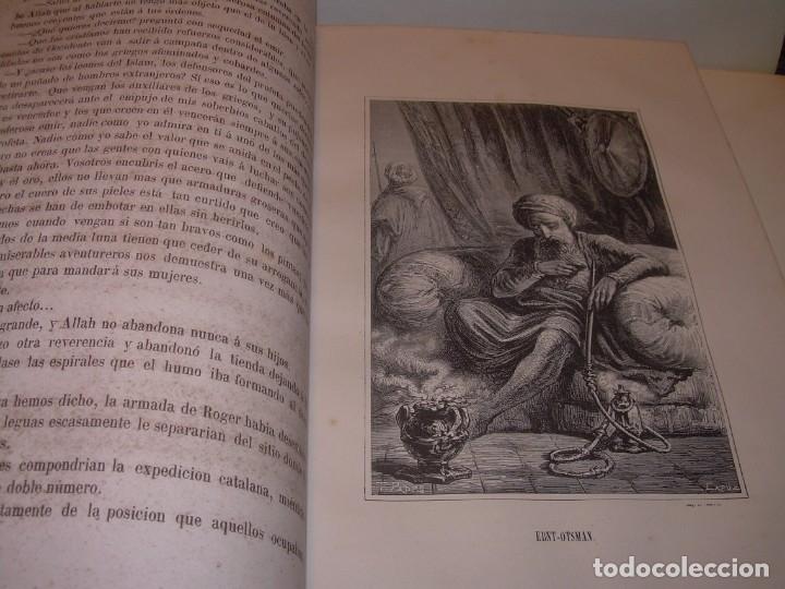 Libros antiguos: LIBRO TAPAS DE PIEL....ROGER DE FLOR O VENGANZA DE CATALANES...AÑO 1864..CON BONITOS GRABADOS. - Foto 14 - 133479010