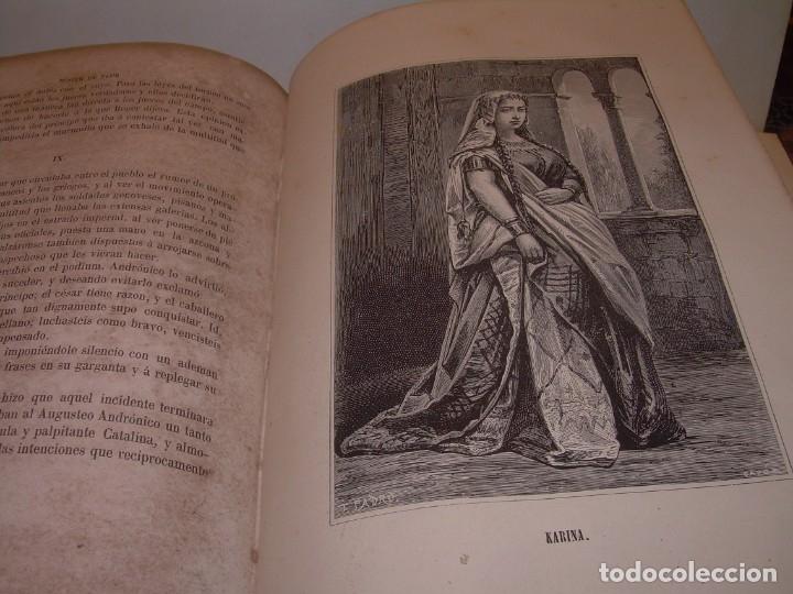 Libros antiguos: LIBRO TAPAS DE PIEL....ROGER DE FLOR O VENGANZA DE CATALANES...AÑO 1864..CON BONITOS GRABADOS. - Foto 18 - 133479010