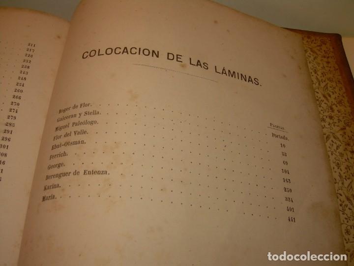 Libros antiguos: LIBRO TAPAS DE PIEL....ROGER DE FLOR O VENGANZA DE CATALANES...AÑO 1864..CON BONITOS GRABADOS. - Foto 22 - 133479010
