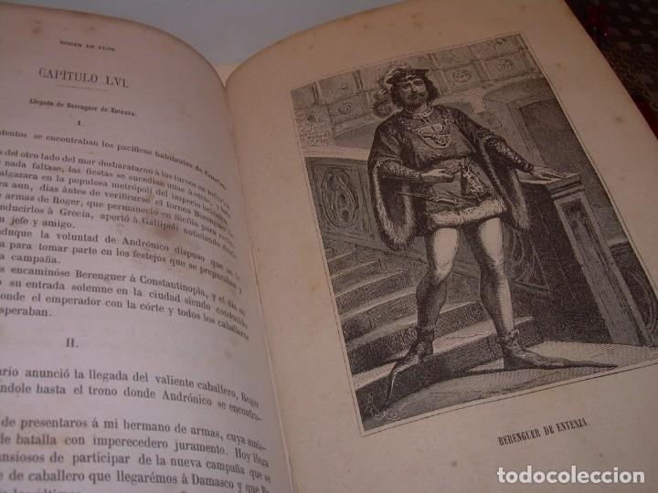 Libros antiguos: LIBRO TAPAS DE PIEL....ROGER DE FLOR O VENGANZA DE CATALANES...AÑO 1864..CON BONITOS GRABADOS. - Foto 23 - 133479010