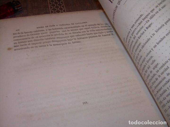 Libros antiguos: LIBRO TAPAS DE PIEL....ROGER DE FLOR O VENGANZA DE CATALANES...AÑO 1864..CON BONITOS GRABADOS. - Foto 27 - 133479010