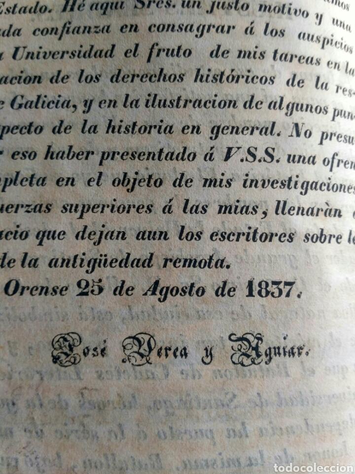 Libros antiguos: Historia de Galicia, José Verea y Aguiar, Ferrol 1838. - Foto 8 - 134833578