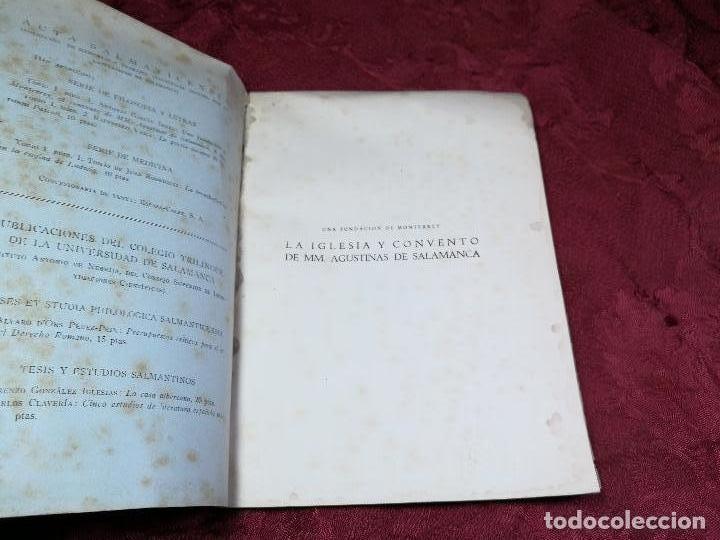 Libros antiguos: LA IGLESIA Y CONVENTO DE MM. AGUSTINAS DE SALAMANCA. UNA FUNDACIÓN DE MONTERREY - GARCÍA BOIZA,1945 - Foto 8 - 134928414