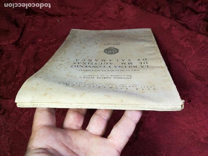 Libros antiguos: LA IGLESIA Y CONVENTO DE MM. AGUSTINAS DE SALAMANCA. UNA FUNDACIÓN DE MONTERREY - GARCÍA BOIZA,1945 - Foto 10 - 134928414
