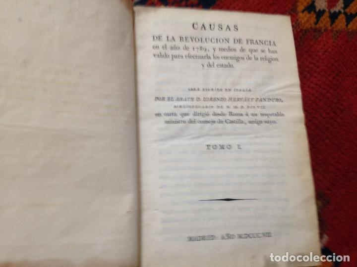 Libros antiguos: causas de la revolucion de francia tomo I por el abate D. lorenzo hervas y panduro 1807 - Foto 2 - 134960798