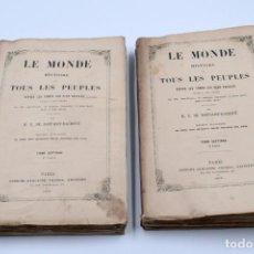 Libros antiguos: LE MONDE HISTOIRE DE TOUS LES PEUBLES... HISTOIRE DE L'ESPAGNE, DU PORTUGAL,... / PARIS 1856. Lote 135036658