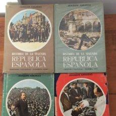 Libros antiguos: ARRARÁS, JOAQUÍN HISTORIA DE LA SEGUNDA REPÚBLICA ESPAÑOLA. 4 VOLUMENES.. Lote 136185290