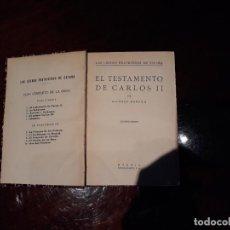 Libros antiguos: LAS LUCHAS FRATRICIDAS DE ESPAÑA- A. DANVILA - EL TESTAMENTO DE CARLOS II .ESPASA-CALPE 2º ED Nº1. Lote 136381838