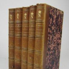 Libros antiguos: HISTOIRE DES PYRÉNÉES ET DES RAPPORTS DE LA FRANCE AVEC L'ESPAGNE, 1855, CÉNAC MONCAUT, 5 VOL.. Lote 136805174