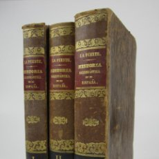 Libros antiguos: HISTORIA ECLESIÁSTICA DE ESPAÑA, HISTORIA GENERAL DE LA IGLESIA, 1855, ALZOG, 3 TOMOS, BARCELONA.. Lote 136807174
