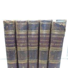 Libros antiguos: HISTORIA GENERAL DE ESPAÑA EN 5 TOMOS, PADRE MARIANA. GASPARA ROIG. 1848-1850.. Lote 139622726