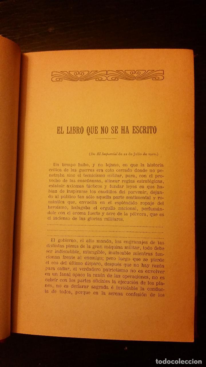 Libros antiguos: 1910 - Verdades amargas. La campaña de 1909 en el Rif (Relato y juicios de un testigo) - Foto 5 - 140763830