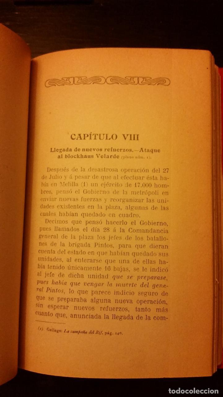 Libros antiguos: 1910 - Verdades amargas. La campaña de 1909 en el Rif (Relato y juicios de un testigo) - Foto 7 - 140763830