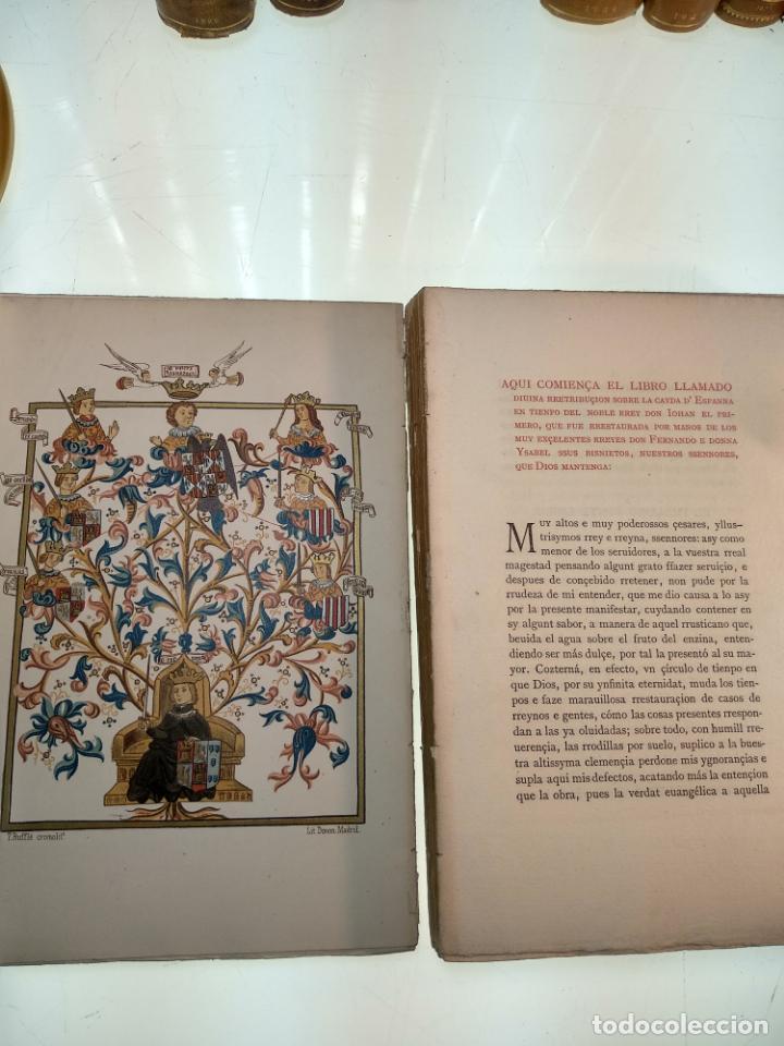 Libros antiguos: DIVINA RETRIBUCIÓN DOBRE LA CAIDA DE ESPAÑA EN TIEMPO DEL NOBLE REY DON JUAN EL PRIMERO - 1879 - - Foto 3 - 140915254