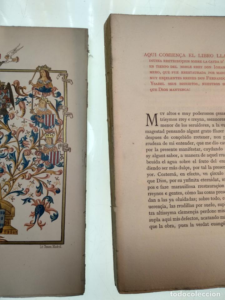 Libros antiguos: DIVINA RETRIBUCIÓN DOBRE LA CAIDA DE ESPAÑA EN TIEMPO DEL NOBLE REY DON JUAN EL PRIMERO - 1879 - - Foto 4 - 140915254