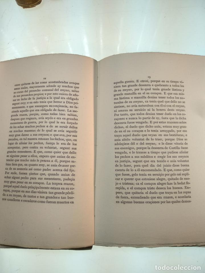 Libros antiguos: DIVINA RETRIBUCIÓN DOBRE LA CAIDA DE ESPAÑA EN TIEMPO DEL NOBLE REY DON JUAN EL PRIMERO - 1879 - - Foto 5 - 140915254