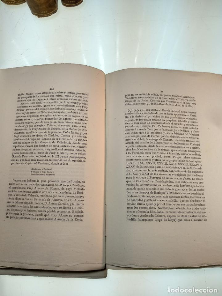 Libros antiguos: DIVINA RETRIBUCIÓN DOBRE LA CAIDA DE ESPAÑA EN TIEMPO DEL NOBLE REY DON JUAN EL PRIMERO - 1879 - - Foto 6 - 140915254