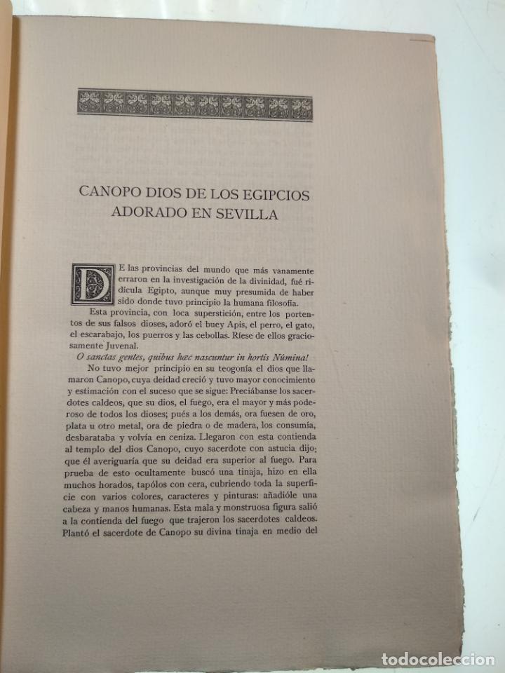 Libros antiguos: ADICIONES AL PRINCIPADO Y ANTIGÜEDADES DE LA CIUDAD DE SEVILLA - RODRIGO CARO - SEVILLA - 1932 - - Foto 4 - 140921986