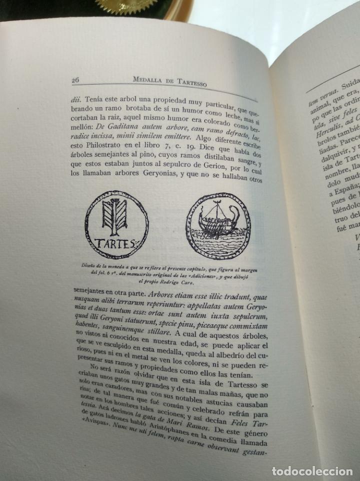 Libros antiguos: ADICIONES AL PRINCIPADO Y ANTIGÜEDADES DE LA CIUDAD DE SEVILLA - RODRIGO CARO - SEVILLA - 1932 - - Foto 5 - 140921986