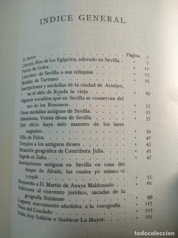Libros antiguos: ADICIONES AL PRINCIPADO Y ANTIGÜEDADES DE LA CIUDAD DE SEVILLA - RODRIGO CARO - SEVILLA - 1932 - - Foto 9 - 140921986