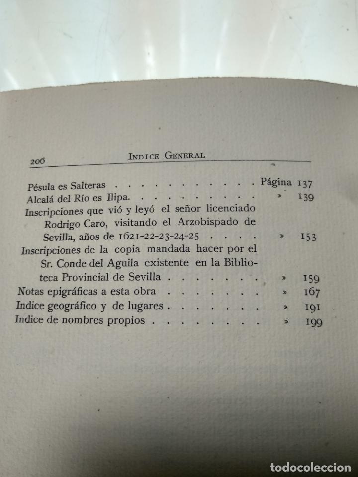 Libros antiguos: ADICIONES AL PRINCIPADO Y ANTIGÜEDADES DE LA CIUDAD DE SEVILLA - RODRIGO CARO - SEVILLA - 1932 - - Foto 10 - 140921986