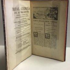 Libros antiguos: CARTA REALE DI SUA MAESTÀ, CHE APPROVA L'ADEGUAMENTO TRA... REAL CEDULA. APROBANDO LA..... CERDEÑA.. Lote 142425041