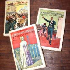 Libros antiguos: 1935 LA REVOLUCION FRANCESA, HISTORIA DE LOS GIRONDINOS, A. DE LAMARTINE (ED. RAMON SOPENA, BCNA). Lote 142689210