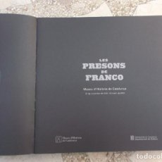 Libros antiguos: LES PRESONS DE FRANCO, EN CATALAN ,MUSEO DE HISTORIA DE CATALUNYA, 2004, 348 PAGINAS, CON FOTOS . Lote 143577614