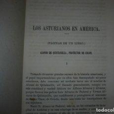 Libros antiguos: LOS ASTURIANOS EN AMERICA --ALONSO DE QUINTANILLA PROTECTOR DE COLON --MARTIN GONZALEZ DEL VALLE . Lote 143656766