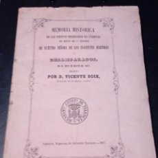 Libros antiguos: VICENTE BOIX. LIBRO MEMORIA HISTÓRICA FIESTAS EN VALENCIA-2º CENTENARIO NTRA.SRA. DESAMPARADOS 1867. Lote 144114458