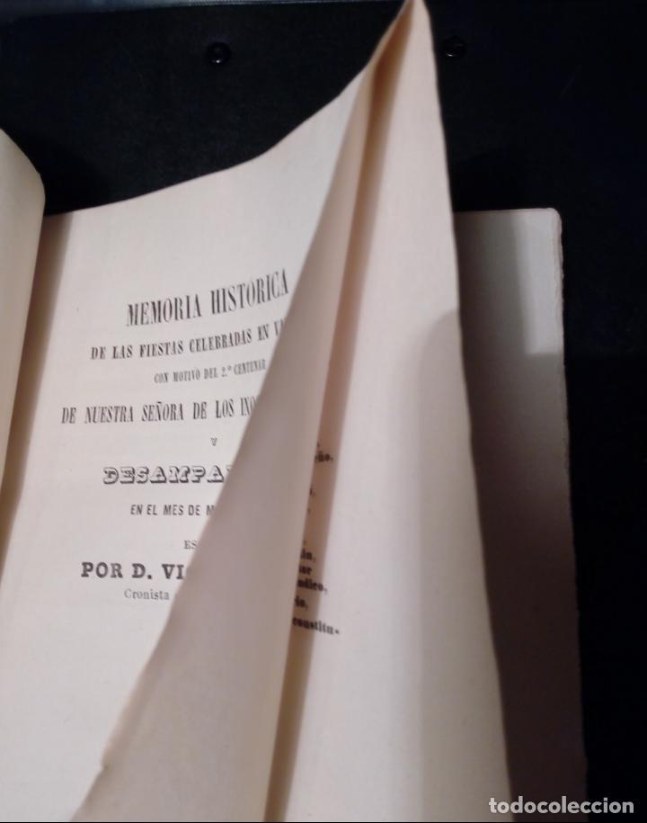 Libros antiguos: VICENTE BOIX. LIBRO MEMORIA HISTÓRICA FIESTAS EN VALENCIA-2º CENTENARIO NTRA.SRA. DESAMPARADOS 1867 - Foto 4 - 144114458
