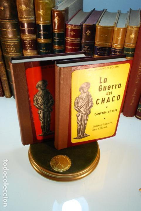 LA GUERRA DEL CHACO - GRAL. RAIMUNDO ROLON - CAMPAÑA 1934 - 2 TOMOS - DESPUÉS DE CAMPO VIA HASTA EL (Libros antiguos (hasta 1936), raros y curiosos - Historia Moderna)