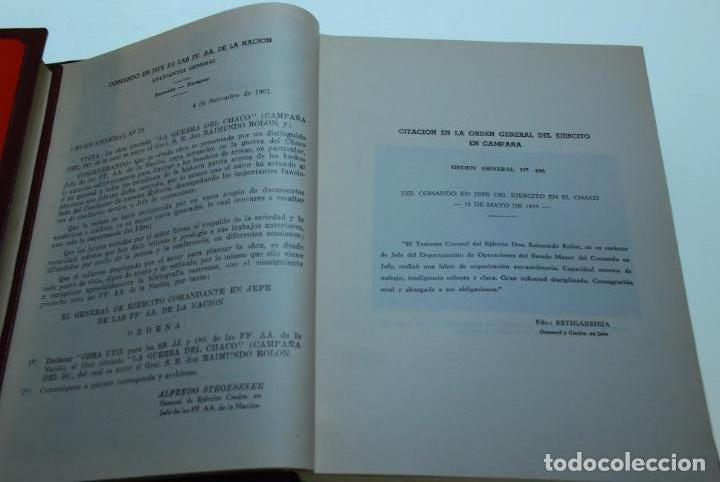 Libros antiguos: LA GUERRA DEL CHACO - GRAL. RAIMUNDO ROLON - CAMPAÑA 1934 - 2 TOMOS - DESPUÉS DE CAMPO VIA HASTA EL - Foto 6 - 144564334